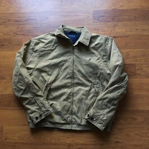 Tan Brown nautica Harrington jacket